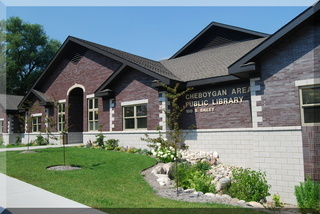 Cheboygan Area Public Library main entrance