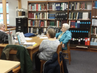 Cheboygan County Genealogical Society room in the Cheboygan County Library